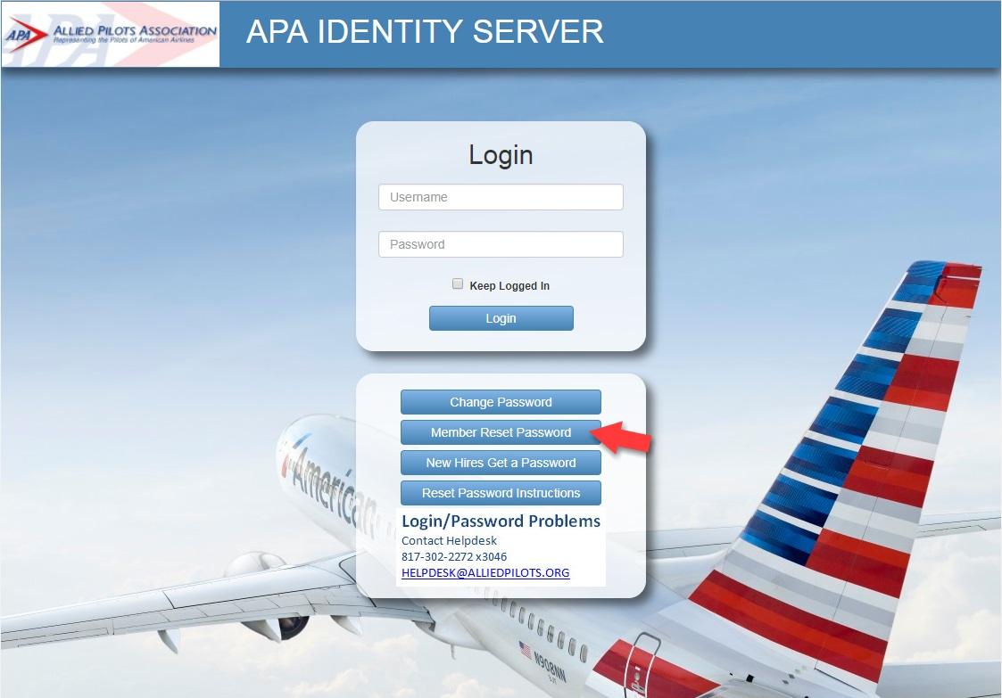 apa reset password instructions